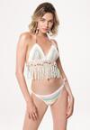 Biało-Niebieskie Bikini Invisible Touch