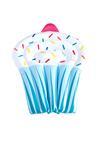 Niebieski Materac Cupcake