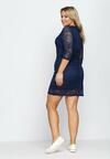 Granatowa Sukienka Wilec
