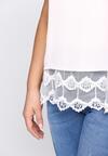 Jasnoróżowa Bluzka Lace Ruffle