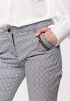 Granatowo-Białe Spodnie Interphase