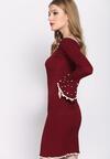 Bordowa Sukienka Ball Gowns