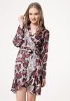 Bordowa Sukienka Natural Phenomenon
