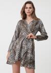Beżowa Sukienka Natural Phenomenon
