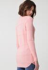 Jasnoróżowy Sweter Well-Lit