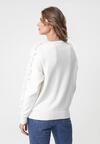 Kremowy Sweter Liquid Blue