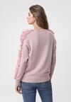 Różowy Sweter Liquid Blue
