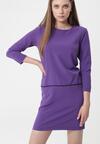 Fioletowa Sukienka Nipping