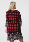 Czarno-Czerwona Sukienka Fleecy