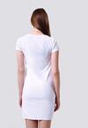 Biała Sukienka Ligature