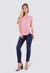 Różowy T-shirt Steer Clear Of