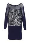 Granatowo-Srebrna Sukienka Materialize