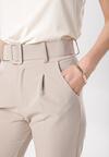 Beżowe Spodnie Graceful