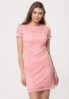 Różowa Sukienka Loose Fitting