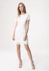 Biała Sukienka Loose Fitting