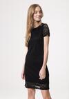 Czarna Sukienka Loose Fitting