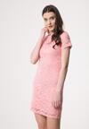 Różowa Sukienka Nodding