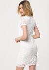 Biała Sukienka Nodding