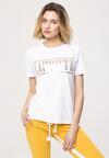 Biały T-shirt Sustainability