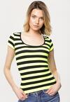 Czarno-Żółty T-shirt One Else