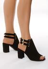 Czarne Sandały Touch On