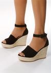 Czarne Sandały Leaving