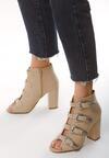Beżowe Sandały Kalki