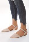 Beżowe Sandały Crackles
