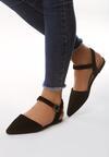 Czarne Sandały Crackles