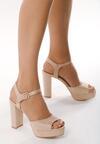 Beżowe Sandały Summer Balance