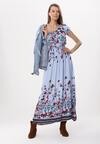 Niebieska Sukienka Behang