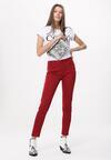 Ciemnoczerwone Spodnie Prevenancy