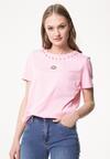 Różowy T-shirt Delusive