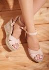 Beżowe Sandały Temperament