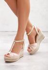 Beżowe Sandały Warmer