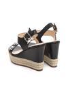 Czarne Sandały Encolden