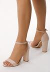 Beżowe Sandały Inactivate