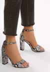 Czarne Wężowe Sandały Testing