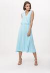Niebieska Sukienka Smooth
