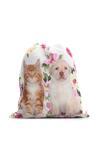Różowo-Biały Plecak Personal