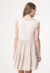 Jasnobeżowa Sukienka Ambiguity