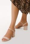 Beżowe Sandały Cataclysmic