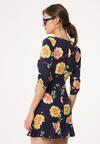 Granatowa Sukienka Florid