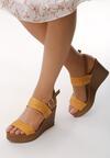 Żółte Sandały Smoky