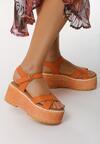 Pomarańczowe Sandały Tall Tale