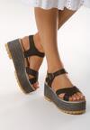Czarne Sandały Tall Tale