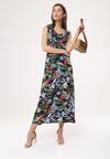 Granatowa Sukienka Behavioural