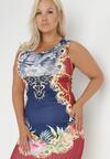 Granatowo-Bordowa Sukienka Ecosystems