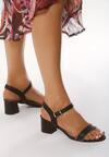Czarne Sandały Astringent