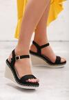 Czarne Sandały Disingenuous